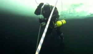 Científicos rusos establecen récord de buceo en aguas frías