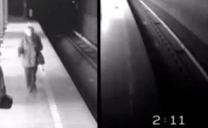 Cayó en las vías, le pasaron dos trenes por encima y sobrevivió