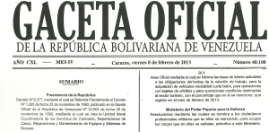 Esta es la Gaceta Oficial donde aparece el nuevo convenio cambiario (Imágenes)