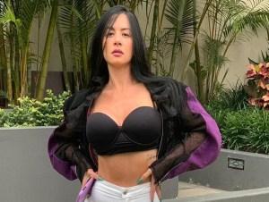 Así luce la barriga de Diosa Canales con su avanzado embarazo (Imágenes)