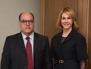 Comisionado Borges se reunió con embajadora de EEUU en la ONU (FOTO)