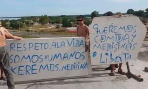 Presos del retén de Cabimas protestan desde el techo (Fotos)