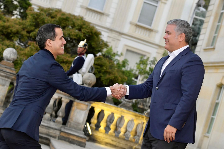 Guaidó resaltó la lucha democrática y el apoyo de Duque a la población venezolana en Colombia