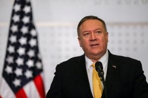 Pompeo urge a Nicaragua cesar represión y restaurar libertades civiles