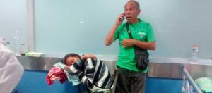 En pupitres atienden a pacientes en la emergencia del Hospital Central de Barquisimeto