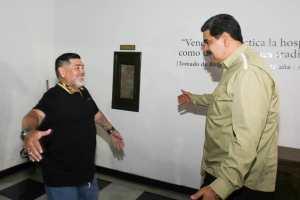 EN VIDEO: La llegada de Maradona a Venezuela para respaldar a la dictadura Maduro