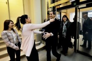 EN FOTOS: El emotivo reencuentro de Juan Guaidó con la diputada Mariela Magallanes en Bruselas