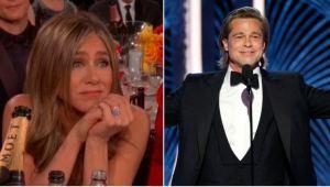 La FOTO detrás de escena de Brad Pitt mirando a Jennifer Aniston en los SAG Awards que se volvió viral