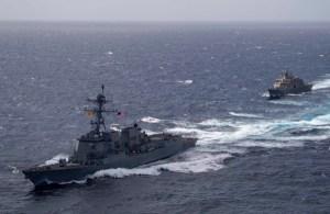 Barco de combate y destructor de la Marina de EEUU habrían hecho ejercicios cerca de La Guaira