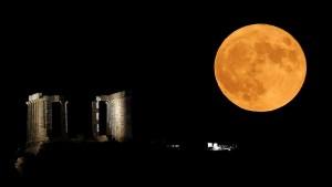 """La primera superluna del año: Cómo ver la """"luna de gusano"""" que iluminará el cielo nocturno este #9Mar"""
