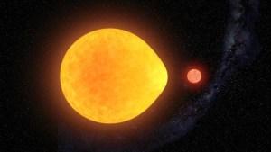 Astrónomos descubrieron una inusual estrella con forma de lágrima