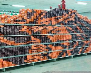¿Milagro o creatividad? Se hace viral la imagen del Nazareno en un anaquel de un supermercado en Yaracuy (VIDEO)