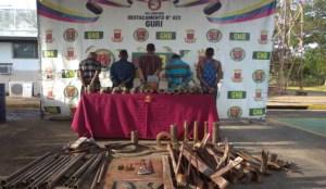 GNB capturó a cinco personas por hurto de material estratégico en Guri