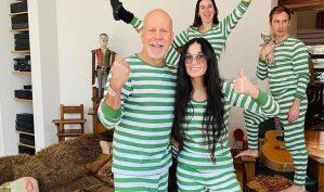 La extraña y sorpresiva foto de Demi Moore y Bruce Willis: Pasan la cuarentena juntos contra el coronavirus