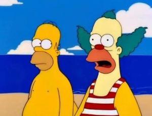 """""""Los Simpson"""" y otro misterio resuelto: Por qué Krusty el payaso es idéntico a Homero"""
