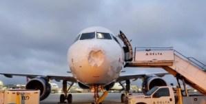 El IMPACTANTE video de cómo quedó un Airbus luego de cruzar una tormenta de granizo