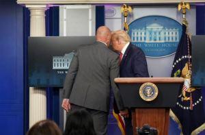 En VIDEO: Trump fue resguardado por el Servicio Secreto tras tiroteo cerca de la Casa Blanca