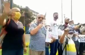 Vecinos de Los Teques salieron a protestar contra el show electoral de Maduro (Videos)