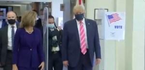 El presidente de EEUU, Donald Trump, acude a votar cerca de su residencia en Florida (Video)