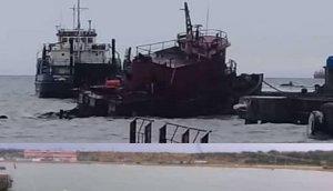 Reportan el hundimiento del astillero remolcador Vesca R-4 en Falcón (FOTOS)