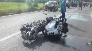 Trágica colisión de una moto BMW dejó un fallecido en Guárico (Foto)