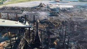 Incendio destrozó una propiedad de la familia de la actriz Jennifer Lawrence (Fotos)