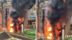 VIDEO: Una explosión en la segunda mayor refinería de petróleo de Sudáfrica desata un gran incendio