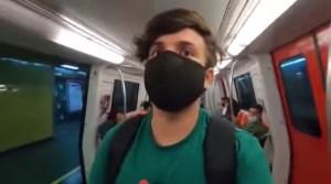 """Este es el VIDEO por el que detuvieron al youtuber """"Fogonix"""" tras manejar el Metro de Caracas"""
