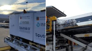 Lote con 430 mil dosis de Sputnik V llegaron a Venezuela este #18Oct (Fotos)