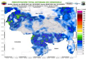 Alerta en varios estados de Venezuela ante posibles descargas eléctricas, pronostica Inameh para este #18Oct