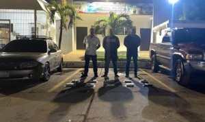 Cicpc capturó a tres peligrosos delincuentes que transportaban un gran lote de droga en Falcón (FOTO)