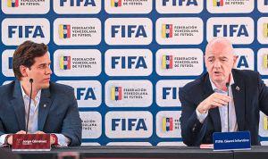 Giménez adelantó que sede deportiva en Caracas es uno de los proyectos con la Fifa